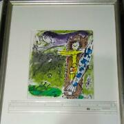 Chagall Lithograph Christ On The Clock Tower