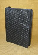 Classic Franklin Covey | Weave Unustructured Leather 1.25 Rings Planner/binder