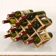Collapsible Wooden Wine Racks Bottle Cabinet Stand Holders Wood Shelf Organizer
