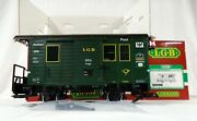 Lgb 3019 Postal Mail Car With Metal Wheels And Led Lights G Scale Train