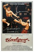 Jean Claude Van Damme And Bolo Yeung Autographed Bloodsport 16x24 Poster Asi Proof