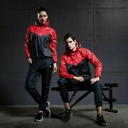 Gym Clothing Set Sauna Suit For Men Women Hooded Sportswear Sweating Weight Loss