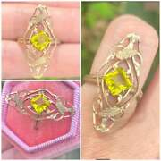Rare Antique Solid 10k Gold Pin Conversion Ring-amazing