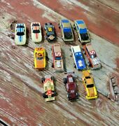 Vintage Lot Of 12 Ho Scale Slot Cars Unbranded,lionel,life Like, Parts Repair