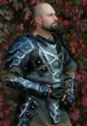 Antique Medieval Armor Full Suit Dwarf Blackened Halloween Costume Cosplay Lotr