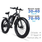 Electric Mountain Bike 1000w Motor 26 Inch Menand039s Bicycle City Cycling Fat Tire