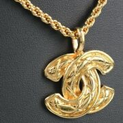 Coco Mark Matelasse Gold Plated Women And039s Necklace No.4810
