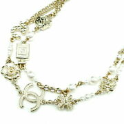 Necklace No5 Pearl Long Rhinestone White 2020 Make Gold Fittings No.4845
