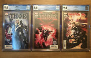 Thor 2020 1 2 And 3 9.6, 9.6, And 9.8 Cgc Cates Black Winter 3 Comic Lot 1st Print