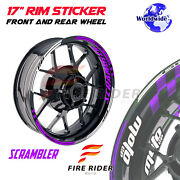 Inner Rim Stickers Decals 17 Inch Pack For Ducati Scrambler Cafe Racer / 1100