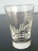 Vintage Pre Prohibition Shot Glass Dallemand And Co Beaded Whiskey Rye Chicago