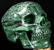 Lifesized 7.5 Ruby Zoisite Carved Crystal Skull, Super Realistic, Healing W282