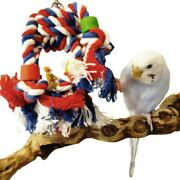 Pet Swing Bird Toy Parrot Rope Harness Cage Hang Toys For Parakeet Cockatiel Lot