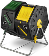 Dual Chamber Compost Tumbler Andndash Easy-turn Fast-working System Andndash All-season High