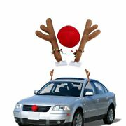 Cute Horn And Red Nose Christmas Supplies Reindeer Christmas Car Decorations