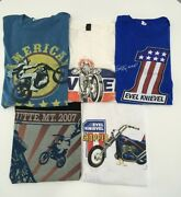 Rare Evel Knievel Collection Motorcycle American Legend Vintage T-shirt Size Xxl