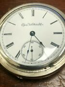 Antique 1889 Elgin National Watch Co 7j 18s Coin Silver Pocket Watch Hunter Case
