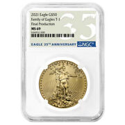 2021 50 Type 1 American Gold Eagle Ngc Ms69 1 Oz Final Production 35th Annivers