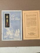 Antique 1927 Colonial Manufacturing Hall Clock Guide Catalog Brochure