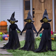 Visiting Light-up Witches With Stakes - Halloween Decorations Witch Decor Wate