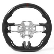 Carbon Fiber Flat Sport Customized Steering Wheel For Ford Mustang Gt Ecoboost G
