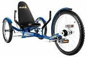 Mobo Triton Pro Adult Recumbent Trike. Pedal 3-wheel Bicycle. Adaptive Tricycle