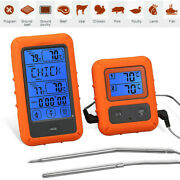 Remote Cooking Thermometer Digital Bbq Grill Oven Meat Wireless Smoker And Timer /