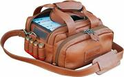 Wild Hare Shooting Gear Leather 6 Box Carrier Java