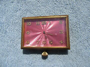 1927 Hardy And Hayes Company Pink Automobile Automotive Car Clock