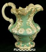 Antique 1840 Charles Meigh Hanley Stunning Pottery Water Pitcher For Basin Hh