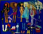 Monster High Doll Lot Of 6 Dolls Shoes Clothes Dolls Accessories