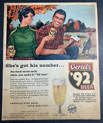 Rare 1959 Oertels 92 Beer Ad Louisville Cleveland Browns Football Flat Top Can