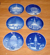 Bing And Grondahl Christmas In America Plate Collection 6pcs 1986 Thru 1991