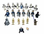 Lot Of 23 Lego Star Wars Minifigures Storm Trooper, Battle Droids And More
