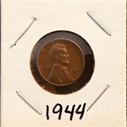 1944 Abraham Lincoln Wheat Copper Penny With No Mint Mark Extremely Rare