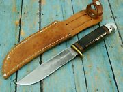 Vintage Ww2 Western W46 5 Boulder Colo Fixed Blade Baby Shark Bowie Knife Knives