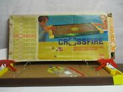 Vintage Crossfire Game 1971 Ideal Games In Box Good Working Condition