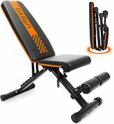 Urevo Weight Bench, Adjustable Weight Bench Strength Training Benches Folding