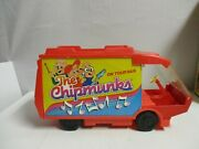 Vintage 1983 The Chipmunks On Tour Van Traveling Playset W/box Ideal Toys Parts