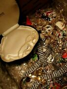 Superb 16.8 Lb Vintage Family Estate Collector's 'junk' Jewelry Lot Untested