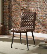 Acme Millerton Set Of 2 Side Chair In Chocolate And Antique Black Finish 70423