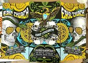 Eric Church Green Bay Wi 2019 Ap Complete Set Of All 3 Signed S/n Poster Instock
