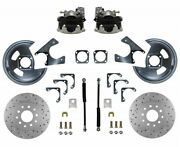 Leed Brakes Rc1004x Rear Disc Brake Kit Universal Gm 10 And 12 Bolt 11 In. Cross-d