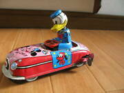Linemar Donald Is The Driver Disney. Car Tinplate Things At Time Disney Toy