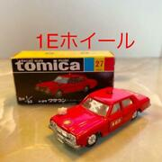 Tomica No.27 Toyota Crown Fire Chief Car 1e Wheels Black Box Made In Japan