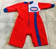 Rare Vintage Late 1970s Original Sohio Gas Station Baby Outfit Size 0-12 Mo