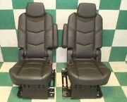 20and039 Escalade Esv Luxury Leather Suede Captainand039s Chairs Bucket Seats Armrests Oem