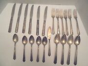 22 Pc Antique Silverware Oneida Ltd And Knives Wa Rogers Silver Collectible