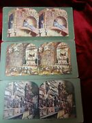 3 - Antique - Stereograph Stereoview - Cards - Skulls