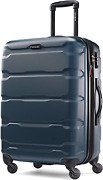 Samsonite Omni Pc Hardside Expandable Luggage With Spinner Wheels, Teal, Checked